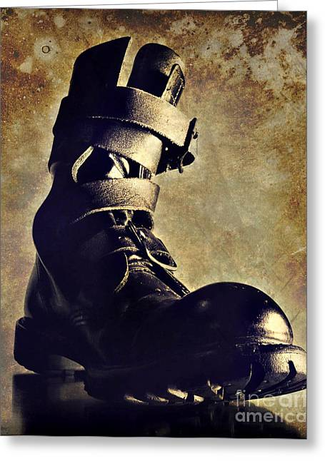 Tank Boot Greeting Card by HD Connelly