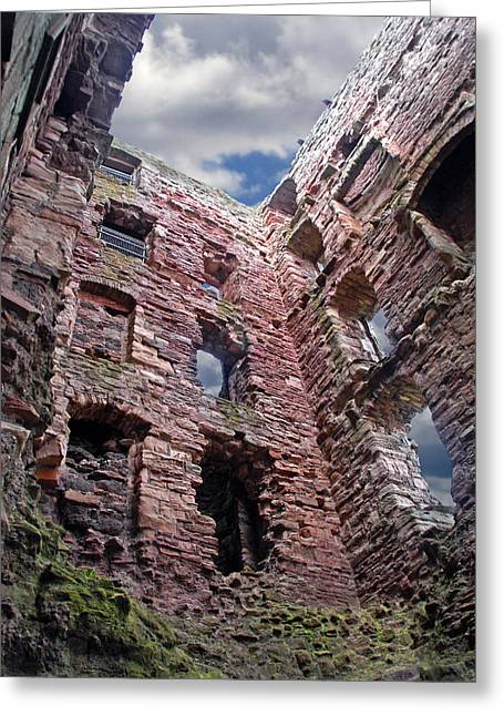 Greeting Card featuring the photograph Tantallon Castle by Rod Jones