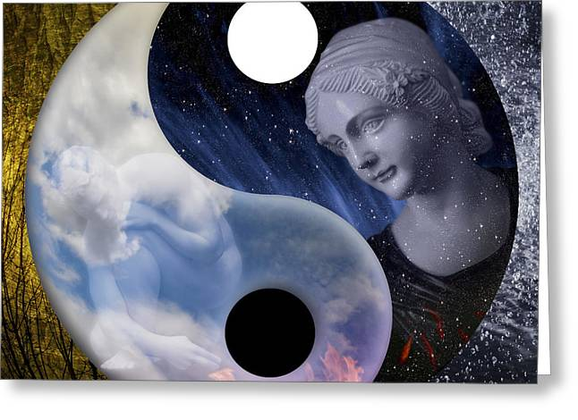 Greeting Card featuring the digital art Taodream by Rosa Cobos