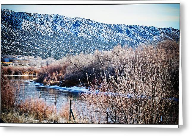 Taos Creek Greeting Card by Lisa  Spencer
