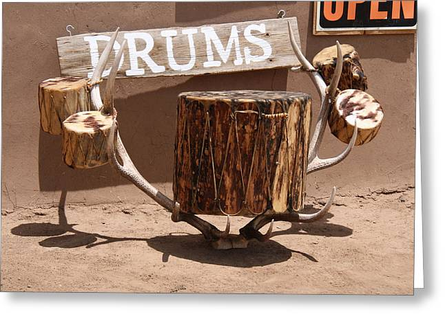 Taos Drum Shop Greeting Card