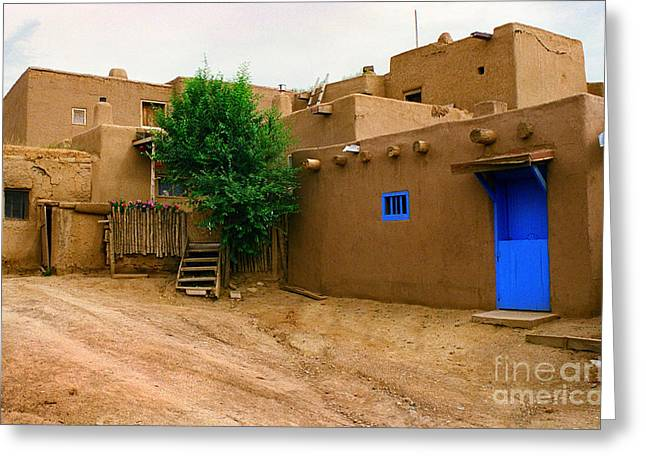 Taos Greeting Card by Jerry McElroy
