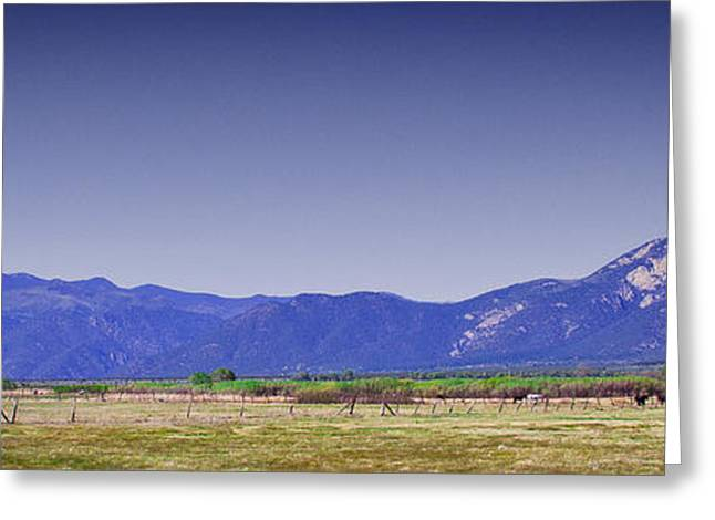 Taos Landscape Greeting Card by David Patterson