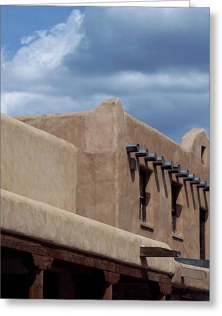 Taos Market Greeting Card by Susan Alvaro