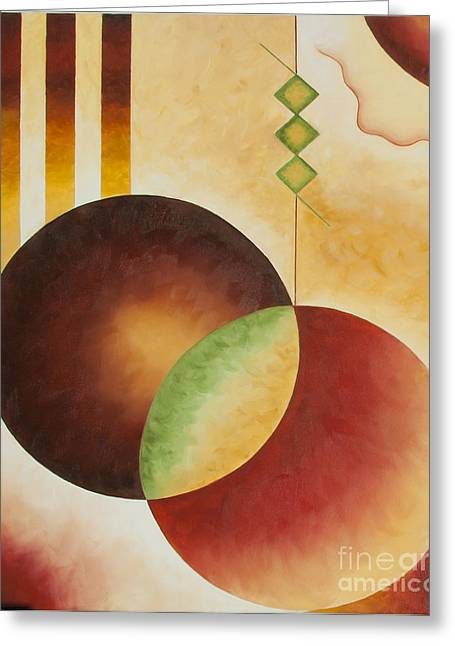 Greeting Card featuring the painting Taos Series- Architectural Journey #3 by Arthaven Studios