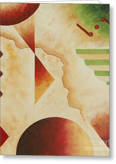 Greeting Card featuring the painting Taos Series- Architectural Journey #4 by Arthaven Studios