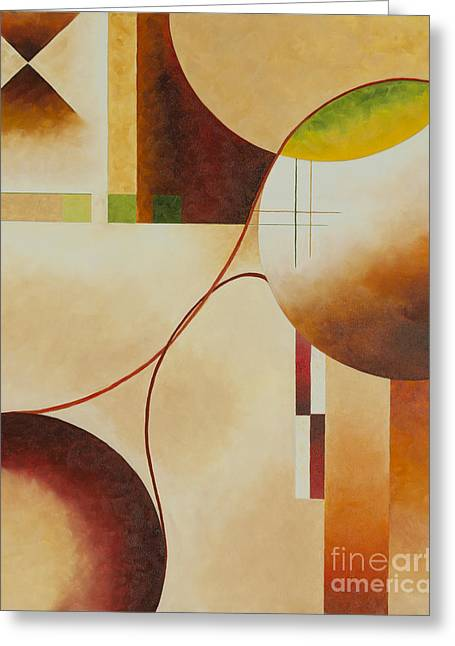 Greeting Card featuring the painting Taos Series- Architectural Journey II by Arthaven Studios