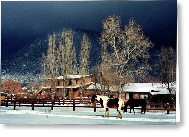 Taos Typical Greeting Card by Ed Golden