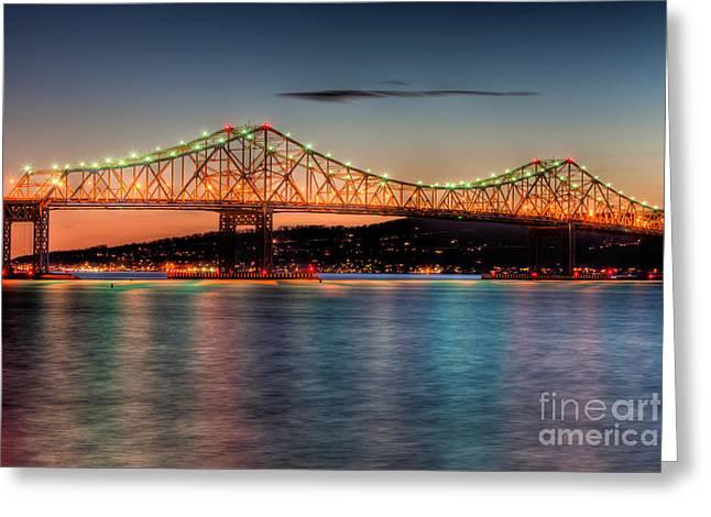 Tappan Zee Bridge Twilight I Greeting Card