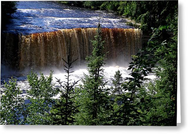 Taquamenon Falls Greeting Card by Mark Caldwell