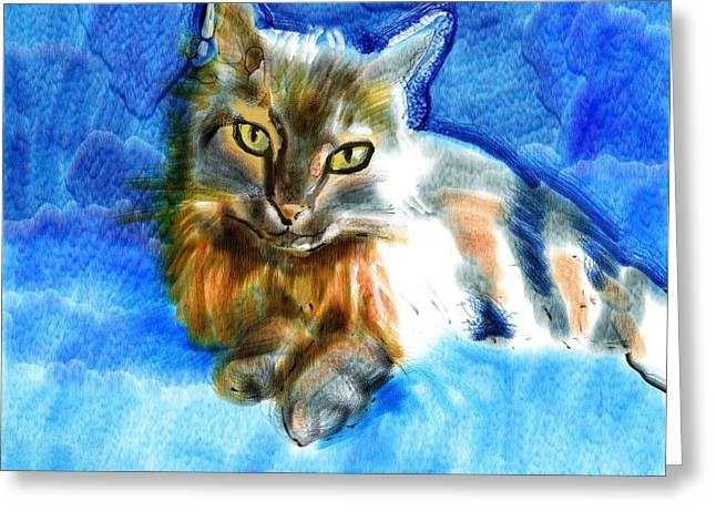 Tara The Cat Greeting Card