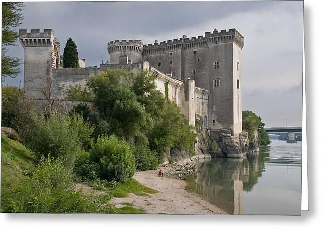 Tarascon Castle On The Rhone Greeting Card by Kent Sorensen