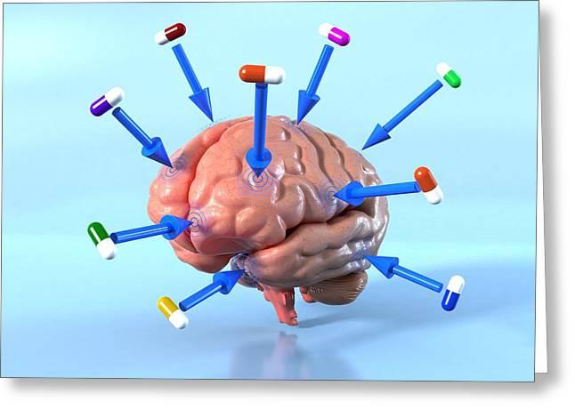 Targeted Psychological Drug Treatments Greeting Card by David Mack