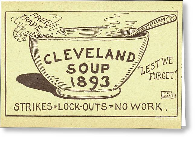 Tariff League Postcard, 1906 Greeting Card by Granger