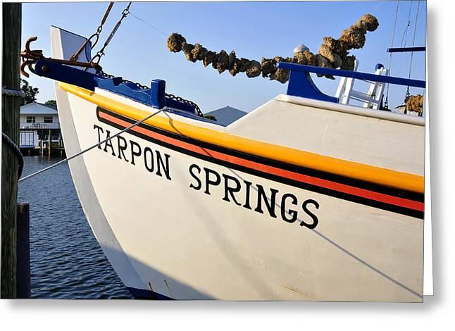 Tarpon Springs Florida Greeting Card by David Lee Thompson