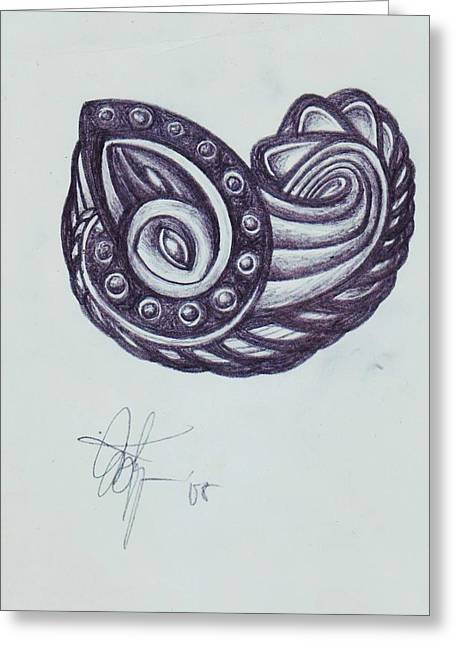 Tatoo 08 Greeting Card by Xole