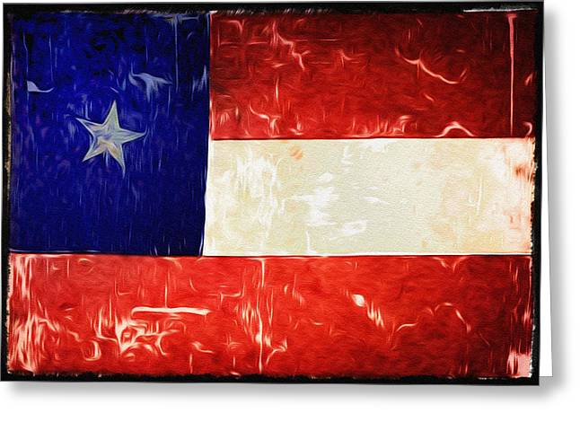 Tattered Texas Flag Greeting Card by Bill Cannon