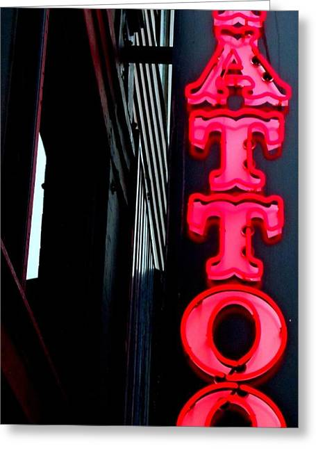 Tattoo Granville Greeting Card by Randall Weidner