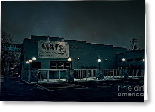 Tav On The Ave Greeting Card by Joel Witmeyer