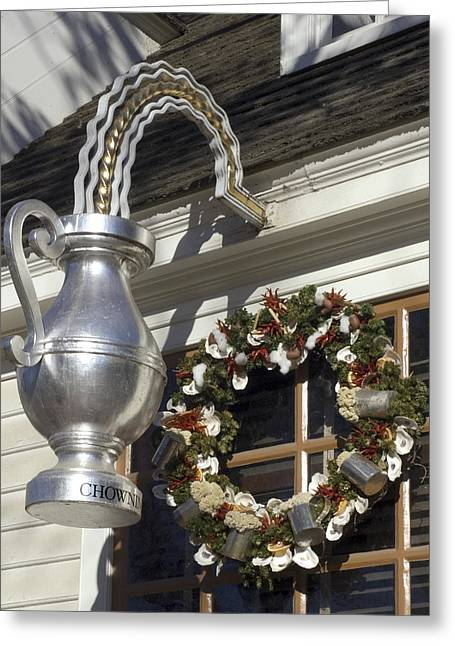 Tavern Tankard Sign Greeting Card by Sally Weigand