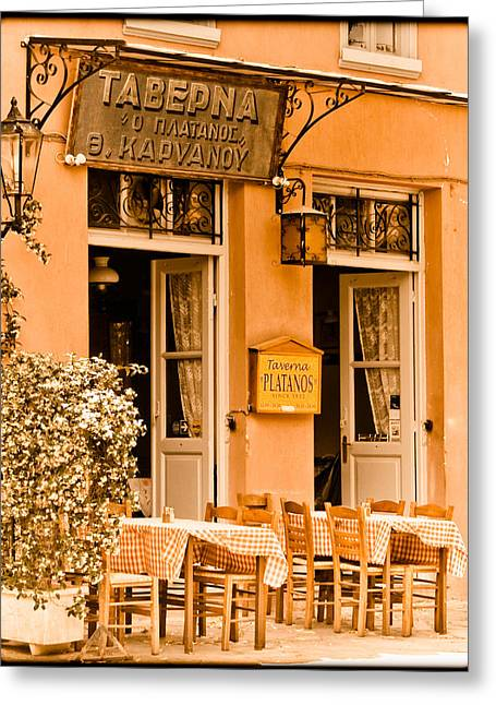 Athens, Greece - Taverna Greeting Card