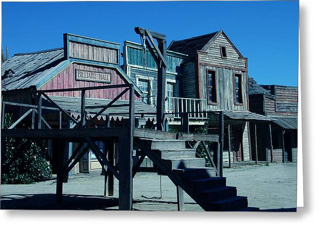 Greeting Card featuring the photograph Taverna Western Village In Spain by Colette V Hera  Guggenheim
