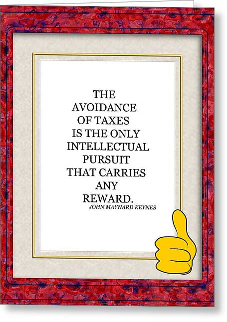 English language greeting cards page 8 of 11 fine art america taxes 101 greeting card m4hsunfo