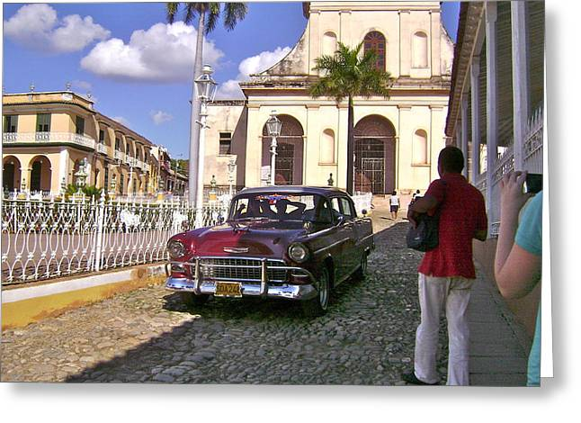Taxi Please Greeting Card by Laurel Fredericks