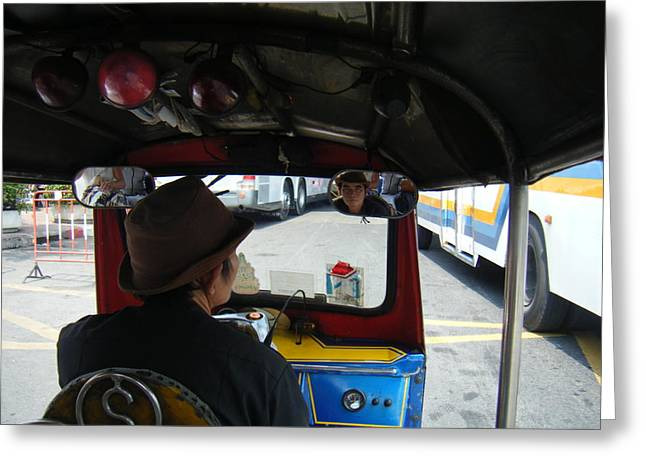 Taxi Ride Through Bangkok Greeting Card