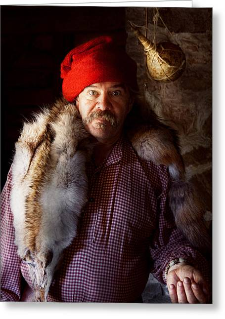 Taxidermist - Jaque The Fur Trader Greeting Card by Mike Savad