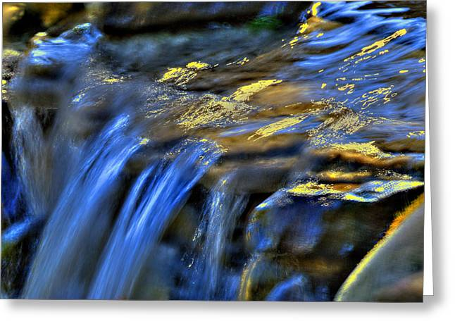 Taylor Waterfall Greeting Card by David Clark