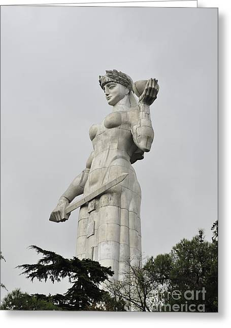 Tbilisi Mother Of Georgia Statue Greeting Card by Amos Gal