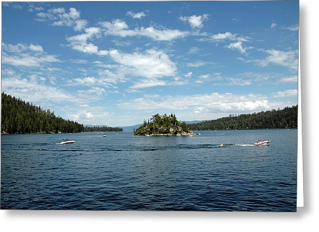Tea House Party In Emerald Bay Greeting Card