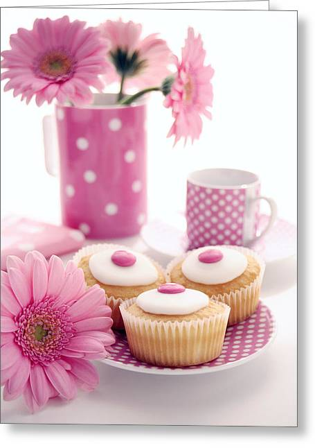 Tea Party Greeting Card by Erika Craddock