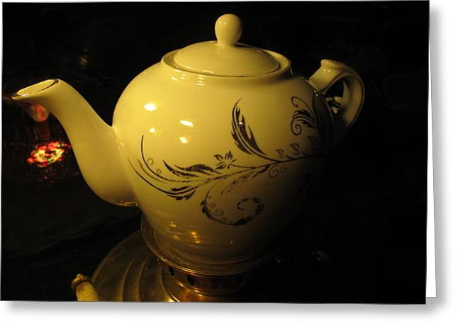 Tea Time Greeting Card by Tia Anderson-Esguerra