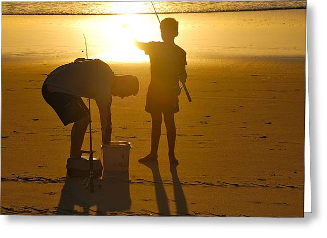 Greeting Card featuring the photograph Teach A Man To Fish... by Eric Tressler