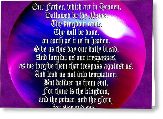 Teach Us To Pray Greeting Card by Daryl Macintyre