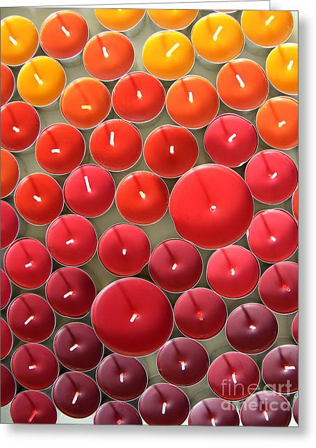 Tealights Greeting Card by Karin Ubeleis-Jones