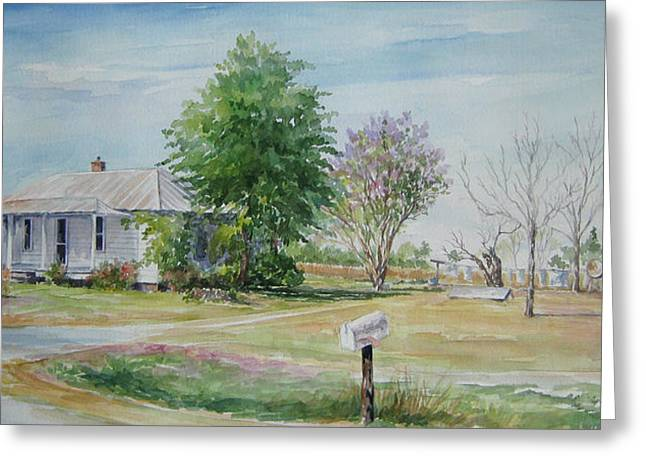 Teals Mill Country Home Greeting Card by Gloria Turner
