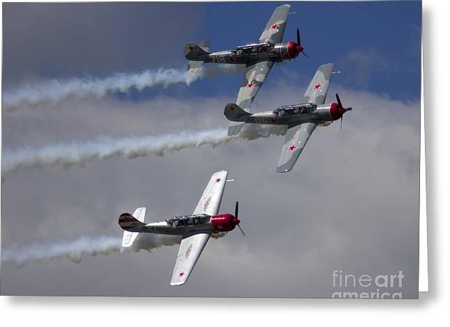 Team Aerostar Formation Greeting Card by Elizabeth Chevalier
