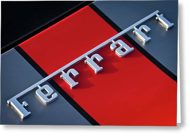 Team Ferrari Greeting Card by Douglas Pittman