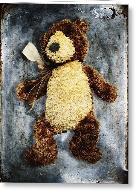 Teddy Bear Greeting Card by Skip Nall