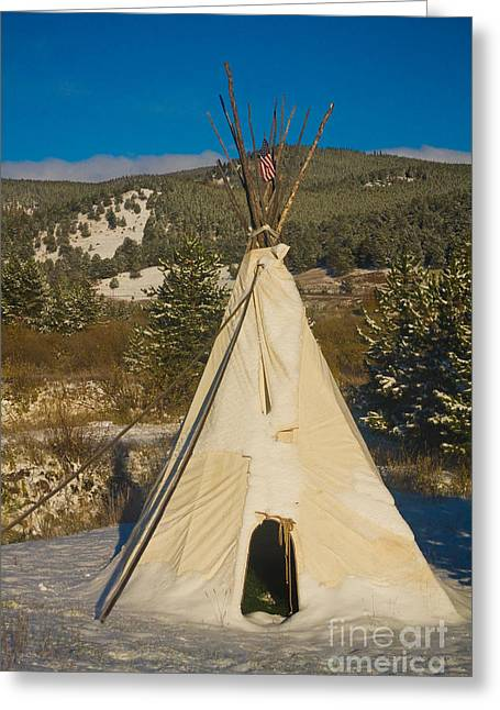 Teepee In The Snow 2 Greeting Card by James BO  Insogna