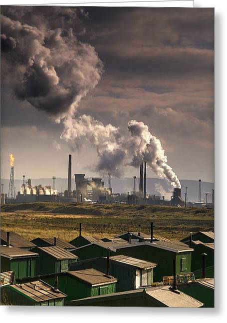 Teesside Refinery, England Greeting Card by John Short