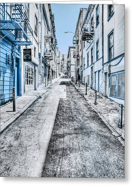 Telegraph Hill Blue Greeting Card by Scott Norris