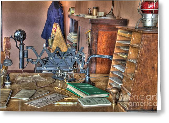 Telegraph Office At Kelso Greeting Card by Bob Christopher