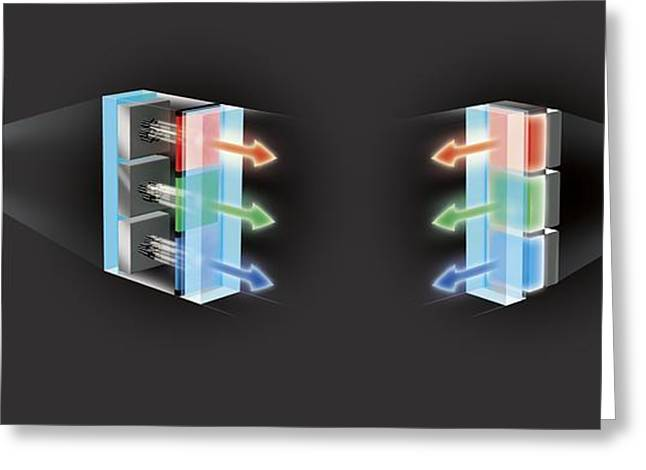 Television Screen Technology, Artwork Greeting Card by Claus Lunau
