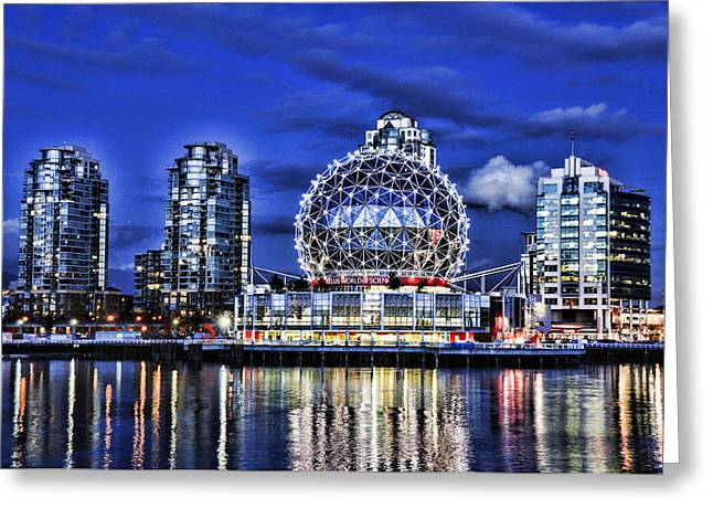 Telus Science Center Vancouver Bc Greeting Card