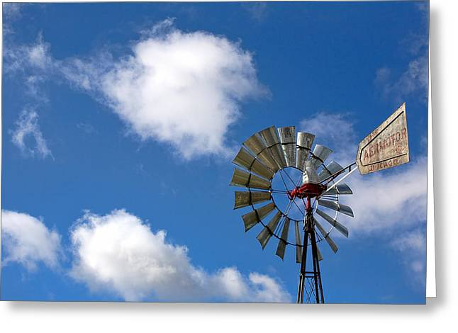 Temecula Wine Country Windmill Greeting Card by Peter Tellone