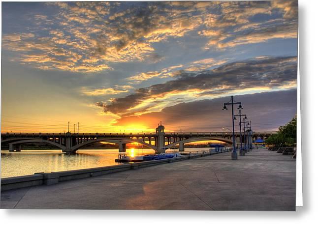 Tempe Town Lake Sunrise Greeting Card